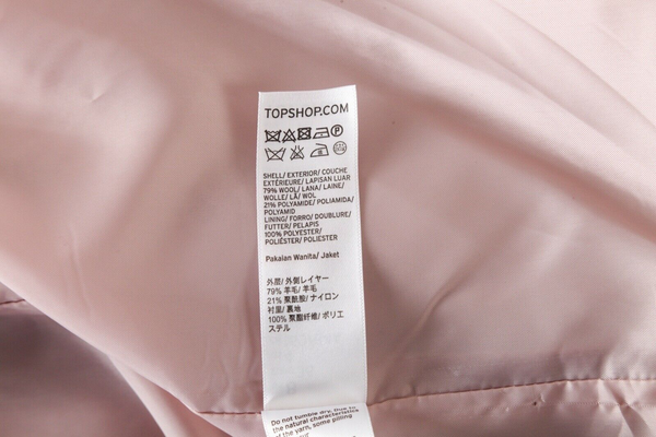 TOPSHOP Tiger Embroidered Wool Jacket - material tag