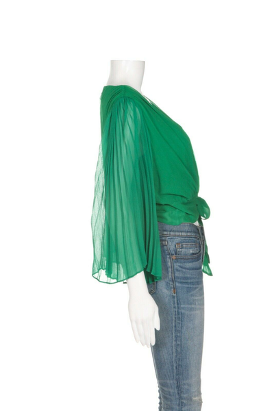 ALICE + OLIVIA Silk Wrap Blouse - side view