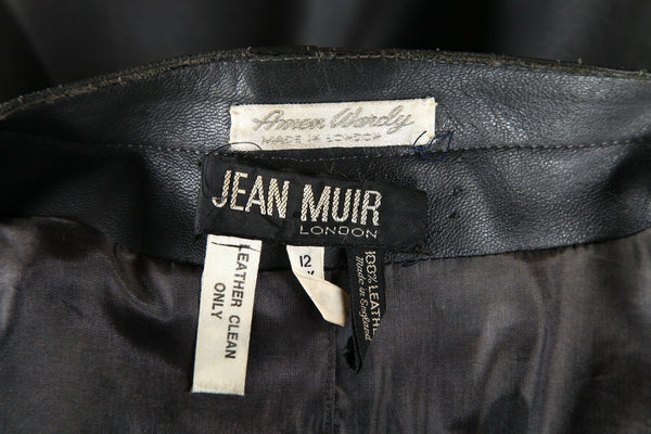 JEAN MUIR LONDON Vintage Cocoon Leather Coat Size 10