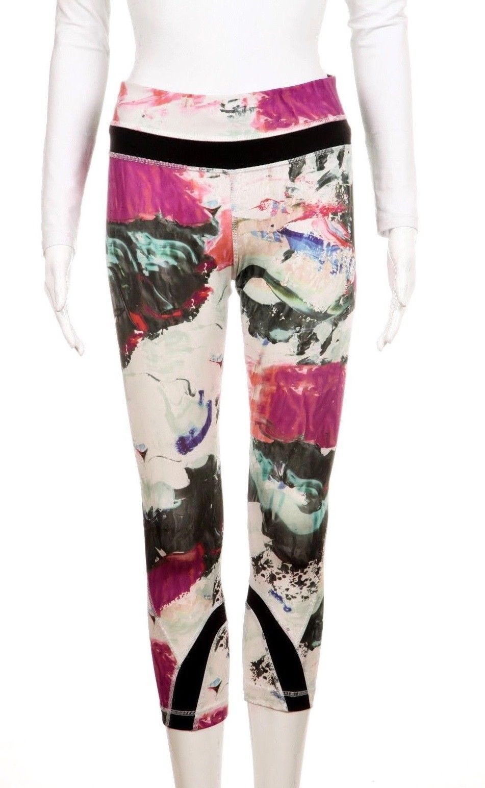 3532b1a0a4 LULULEMON Inspire Run Cropped Pink Printed Pants Size 4 – Style-Hunting