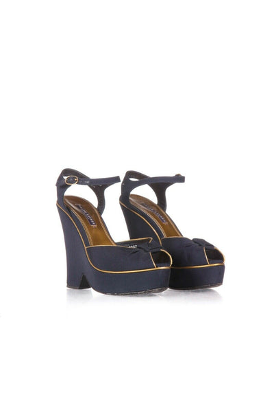 RALPH LAUREN COLLECTION Wedge Peep Toe Sandals Size 38.5 (8.5)