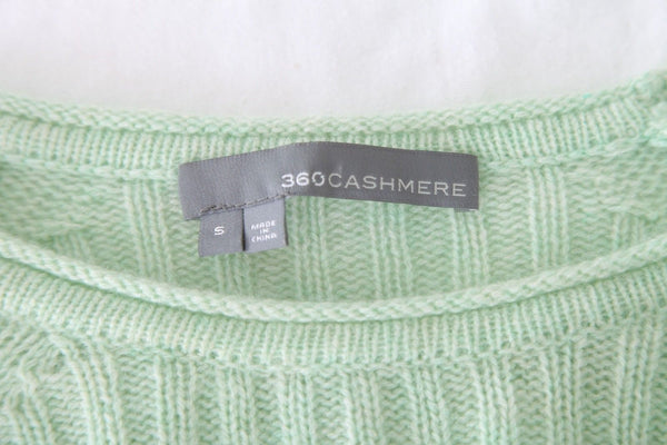 360CASHMERE Mint Green Knit 100% Cashmere Sweater Size S
