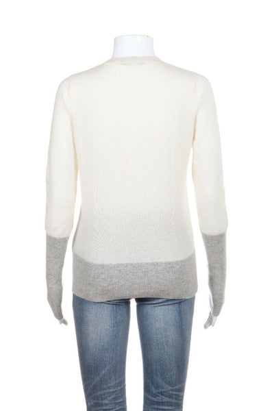 VINCE Color Block 100% Cashmere Sweater Size XS