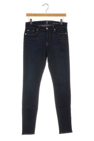 7 FOR ALL MANKIND Gwenevere Dark Blue Skinny Jeans Size 27