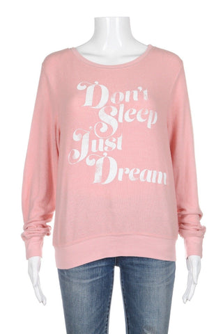WILDFOX Sweatshirt Pink Don't Sleep Just Dream Size XS