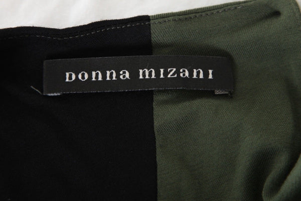 DONNA MIZANI Army Green Black Mini Cut Out Bodycon Dress Size S