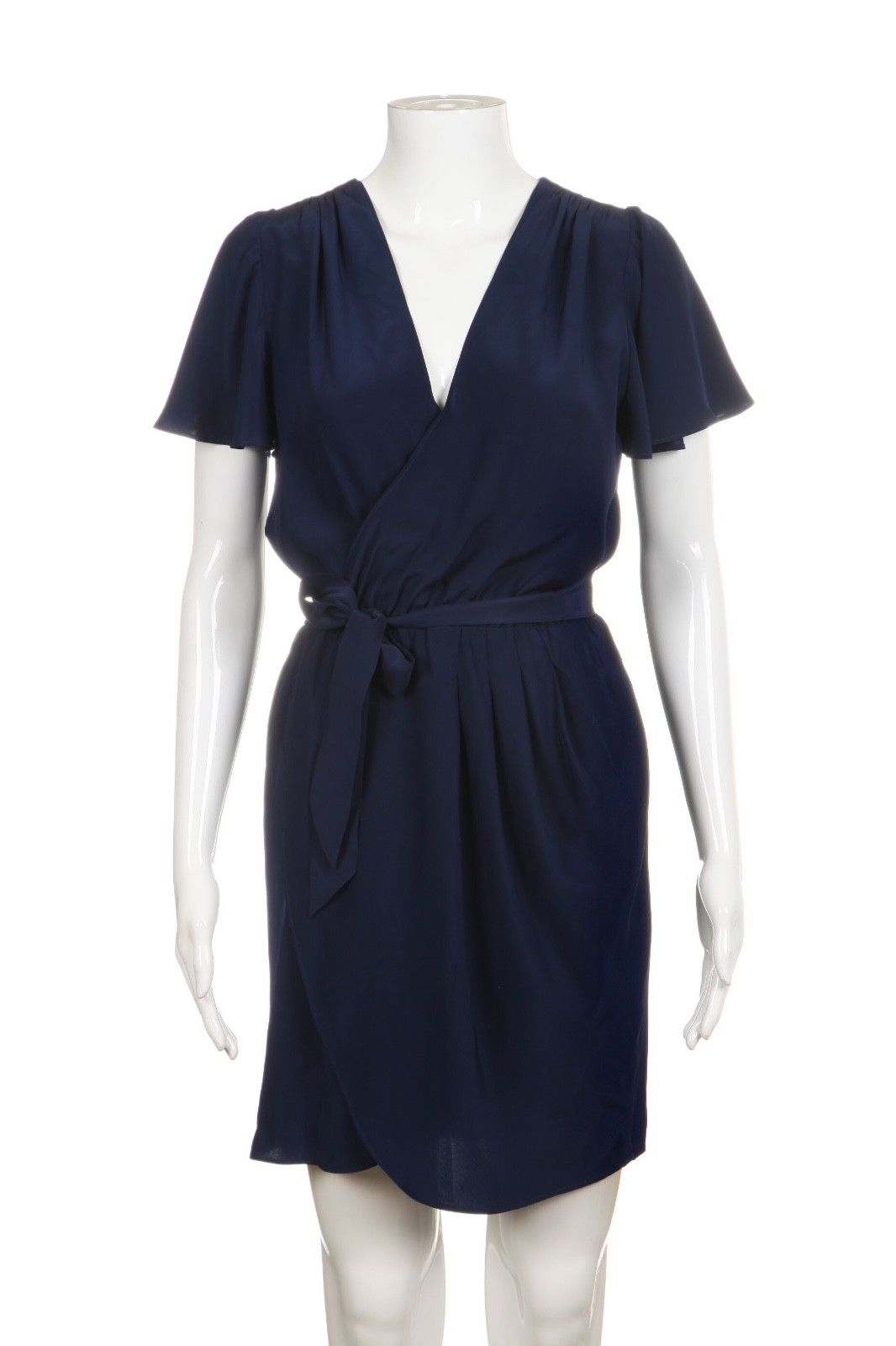 AMANDA UPRICHARD Blue Wrap Dress 100% Silk Size S