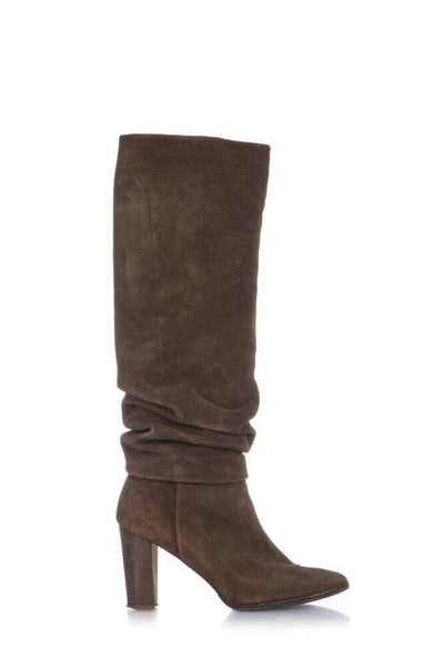 MANOLO BLAHNIK Suede Leather Slouchy Boots Size 37.5