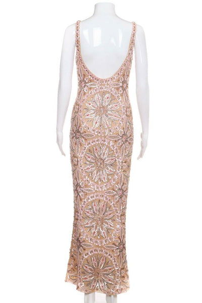 RANDOLPH DUKE Sequin Embellished Midi Dress Size 6