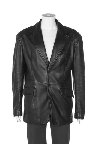 GIANNE VERSACE Couture Leather Blazer Jacket Size XXXL