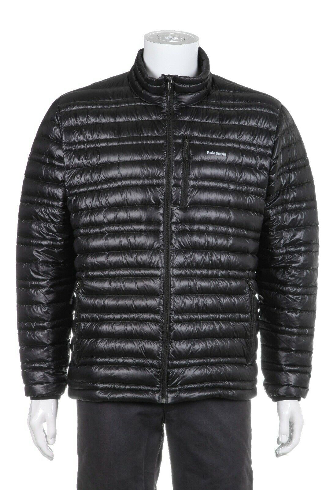 PATAGONIA Black Goose Down Puffer Jacket Ultra Lights Size L