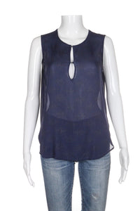 L'AGENCE for Barney's 100% Silk Studded Top Size 2