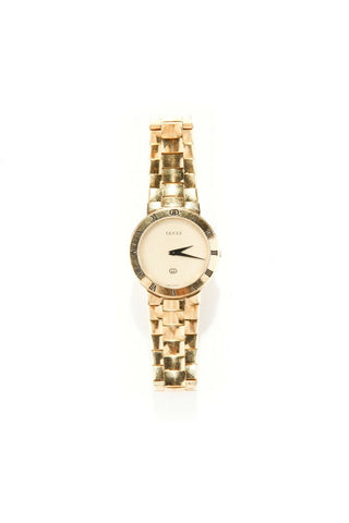 GUCCI Gold Tone Roman numerals Watch
