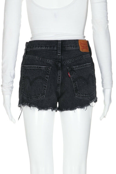 LEVI'S 501 Frayed Denim Shorts Size 25