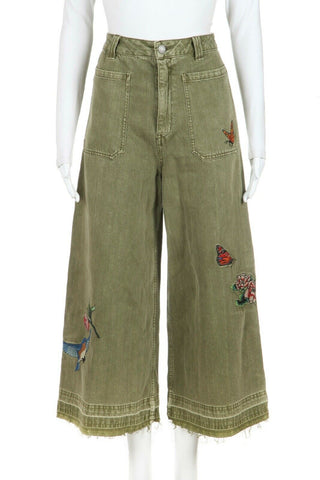 WE THE FREE Wide Embroidered Culottes Pants Size 26