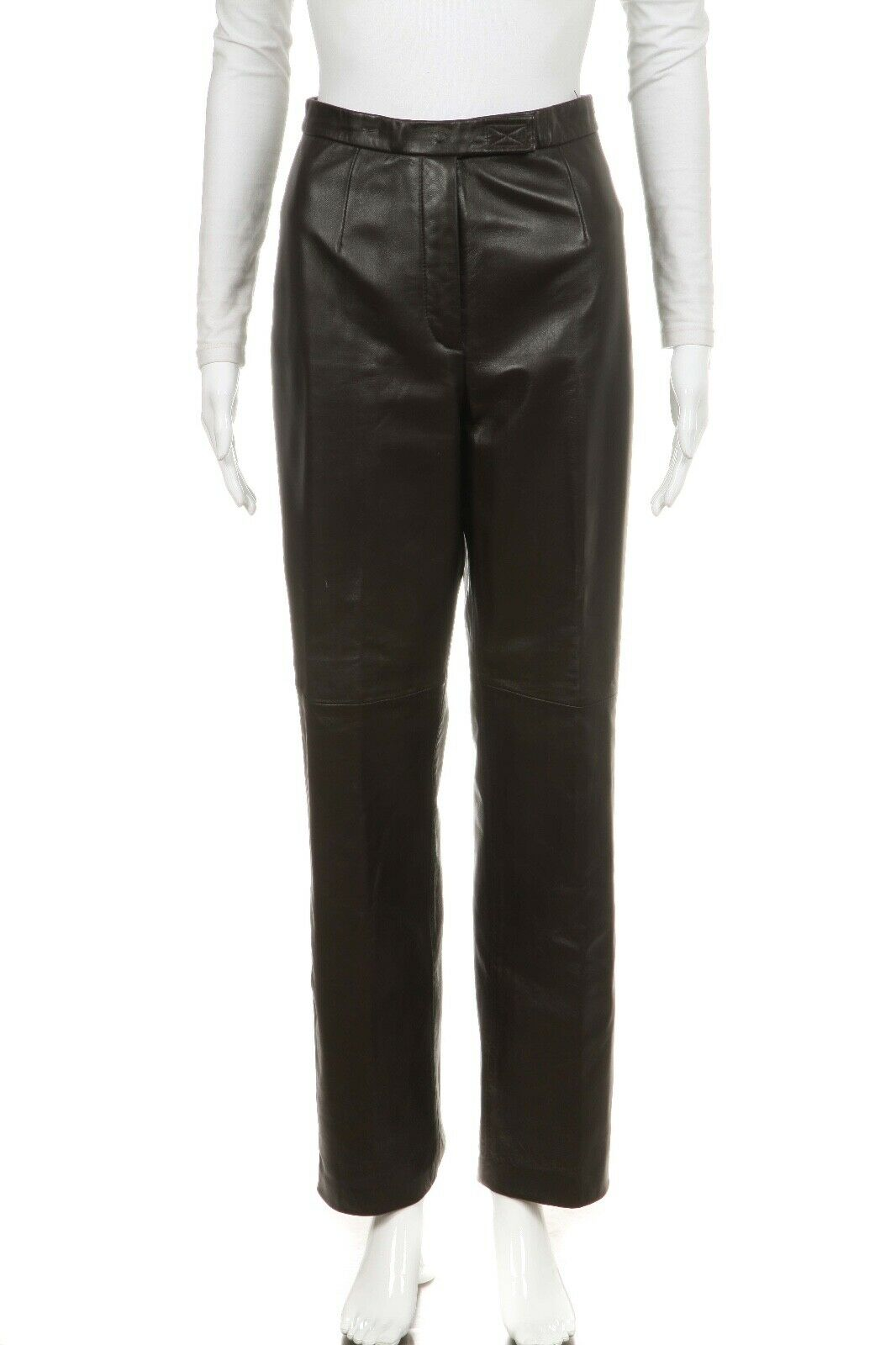 SIENA STUDIO Straight High Waisted Leather Pants Size 6