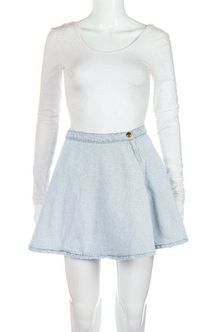 AMERICAN APPAREL Denim Skater Skirt Size S