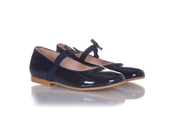 JACADI Mary Jane Blue Patent Leather Flats Size 26 (9.5)  (New)