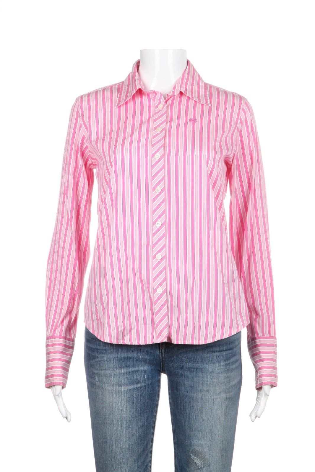 LILLY PULITZER Pink Striped Button Down Shirt Size 2