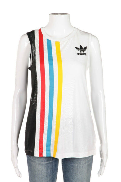 ADIDAS Athletic Rainbow Stripe Tank Top Size S (New)