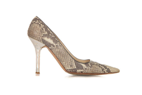 Python Print Pointed Pumps Shell Stilletto