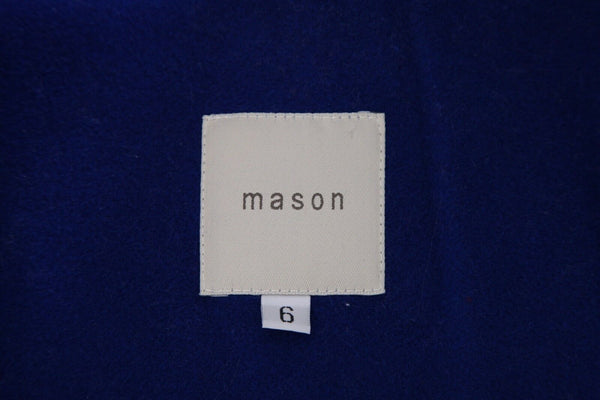 MASON Open Coat Leather Sleeves Size 6