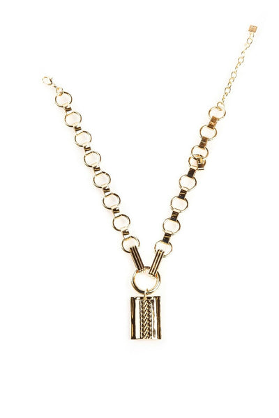 DANNIJO Elisa Gold Chain Necklace with Pendant