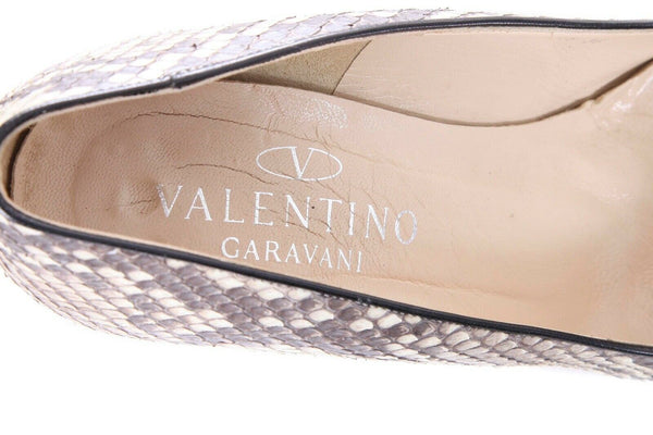 Valentino Python Print Pointed Pumps Shell Stilletto