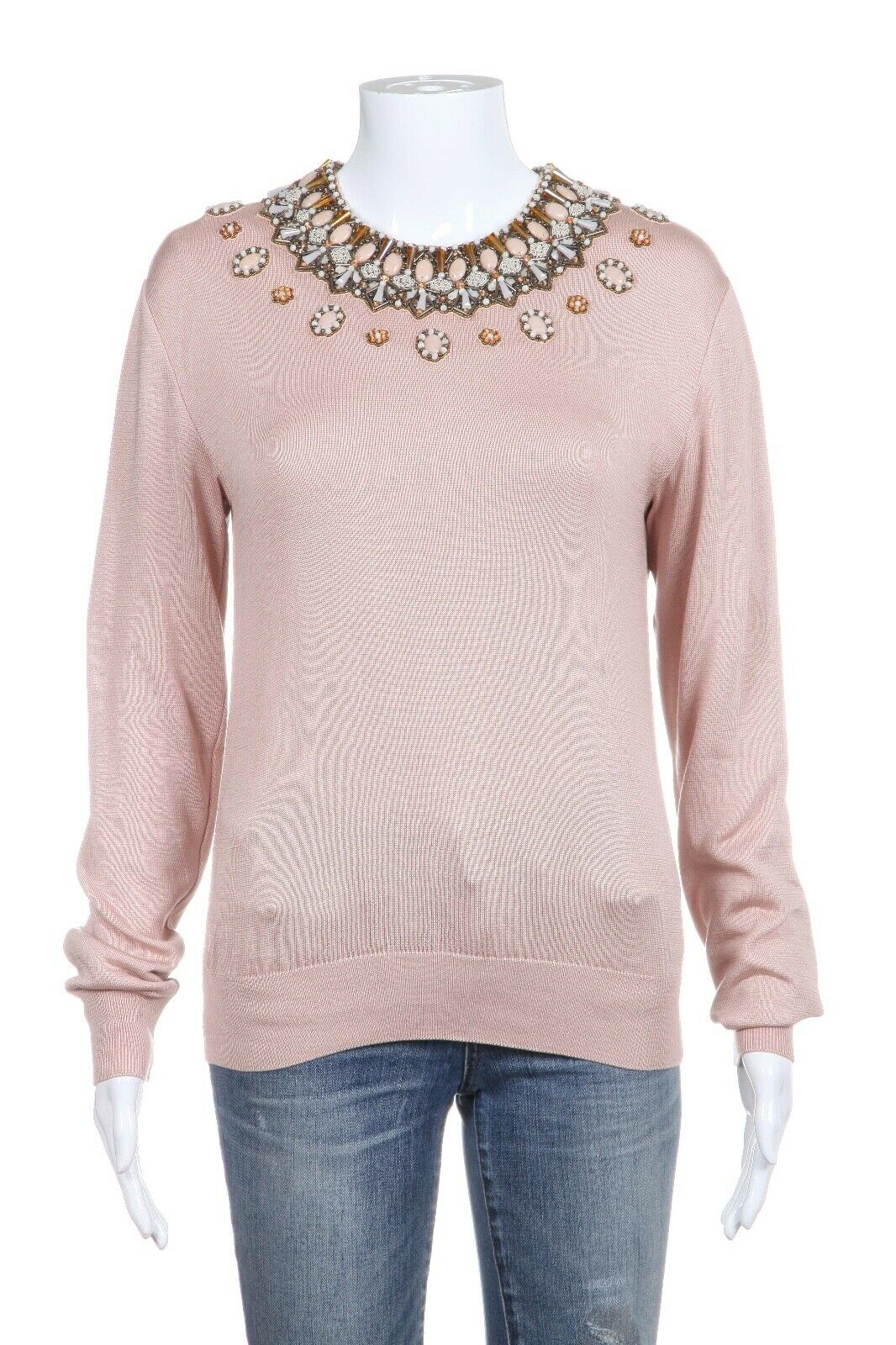 ANDREW GN Knit Embellished Sweater Size 36 (S) (New)