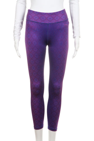 PRANA Purple Printed Yoga Pants Leggings Size XS