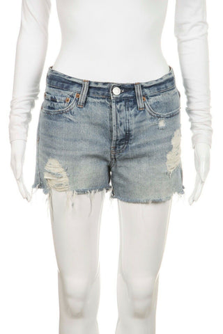 Blue Distressed Denim Shorts Tomgirl Size 24