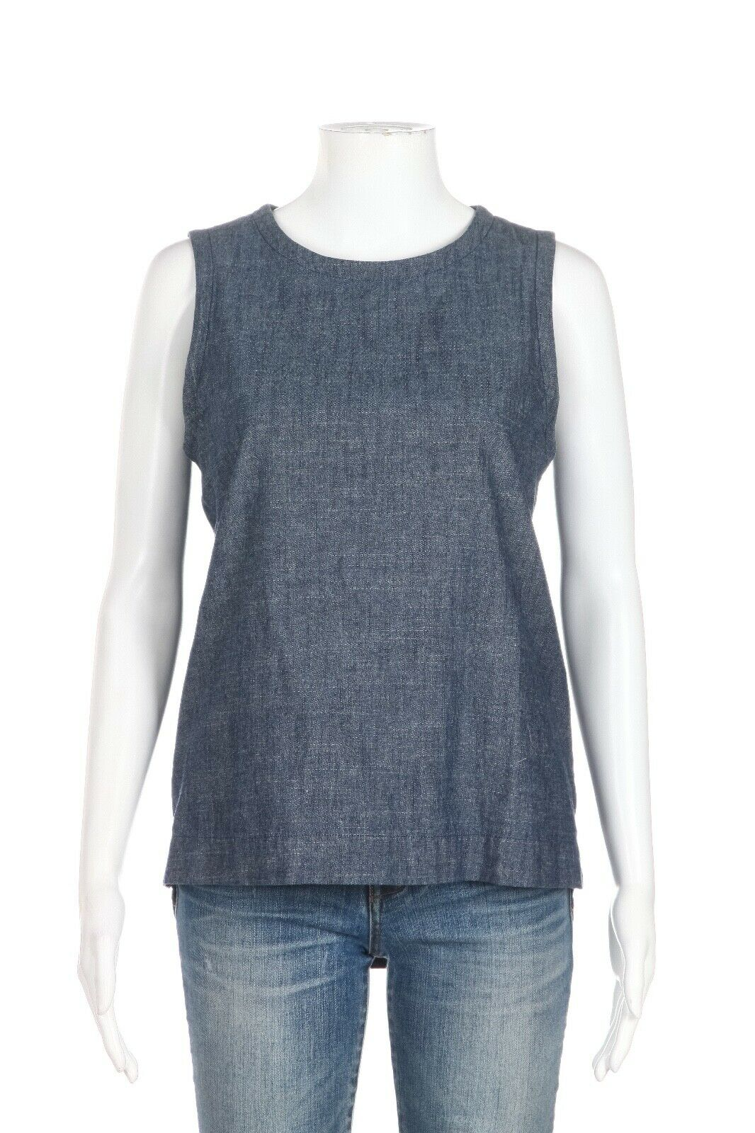 KATE SPADE Saturday Sleeveless Chambray Top Size XS