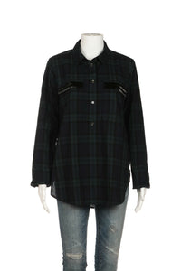 J.Crew Long Sleeve Popover Tartan Shirt Size 10 (New)