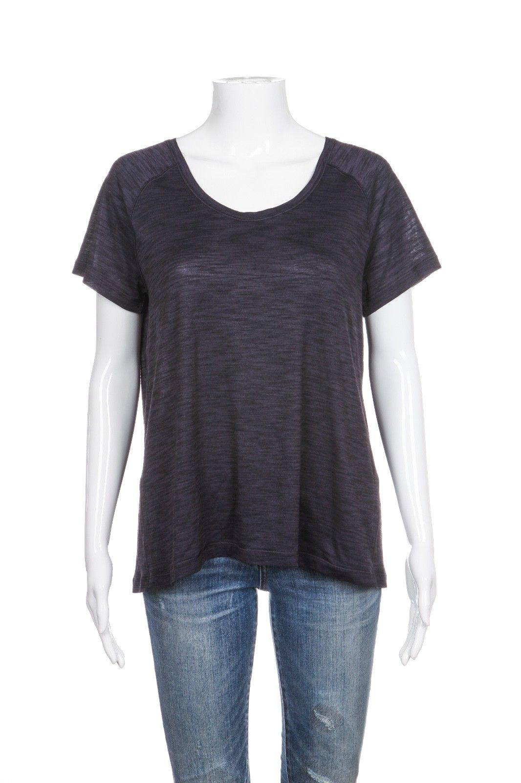 LULULEMON Back In Action Short Sleeve Tee Heathered Purple Black
