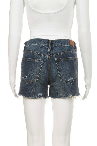 BDG Dark Distressed Denim Shorts Tomgirl Size 25
