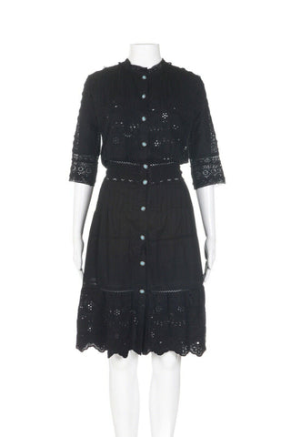 THE KOOPLES Crochet Flared Dress Size 2 (S)