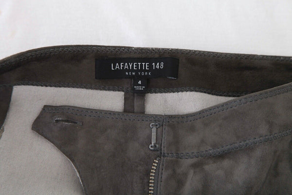 LAFAYETTE 148 Skinny Suede Leather Pants Size 4