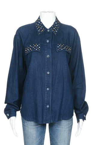 SAINT GERMAIN Vintage Denim Shirt Size M