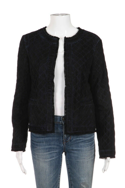 D&G Quilted Lambskin Leather Jacket Size 44 (M)