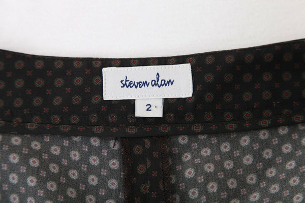 STEVEN ALAN 100% Silk Skirt Shorts Size 2