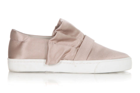 LOUISE ET CIE Dusty Rose Blush Pink Low Satin Sneakers Size 7