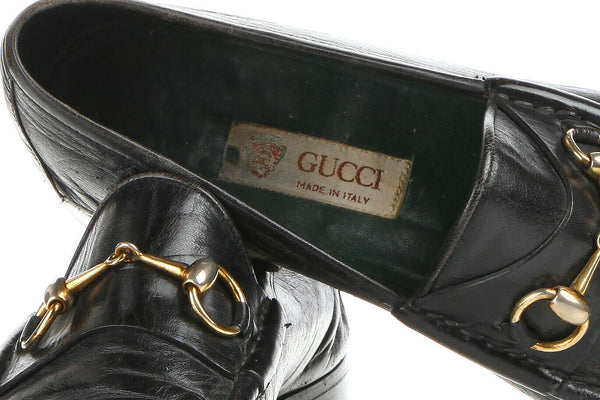 GUCCI Men's Leather Horsebit Penny Loafers Size 44.5 (11.5)