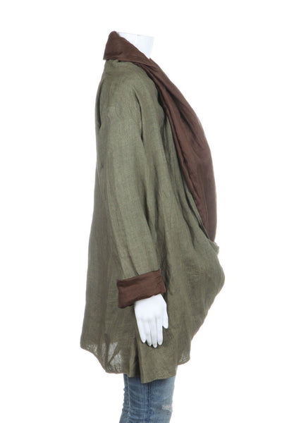 AMBA Draped Lightweight Versatile Jacket Size OS
