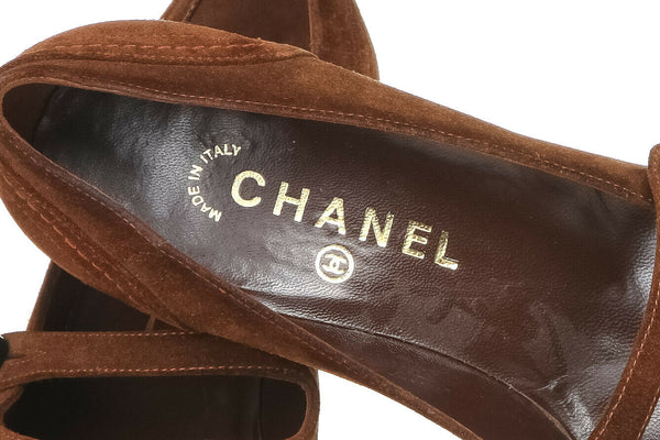 CHANEL Pointed Suede Pumps Size 38 (8)