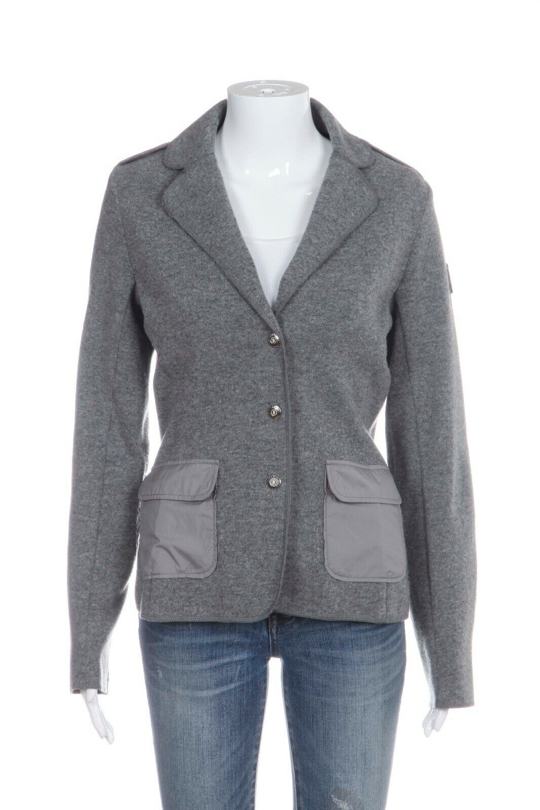 BOGNER Knit Fitted Blazer Jacket Size 36 (S)