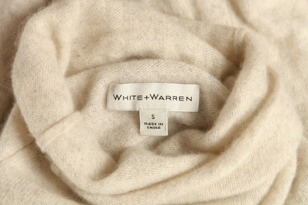 WHITE + WARREN High Low 100% Cashmere Sweater Size S