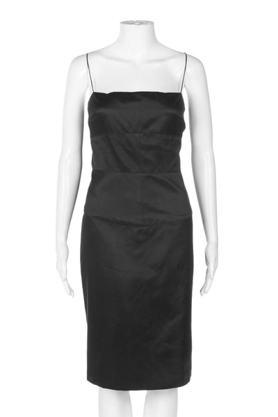 TAHARI Satin Silk Blend Cocktail Dress Size 10