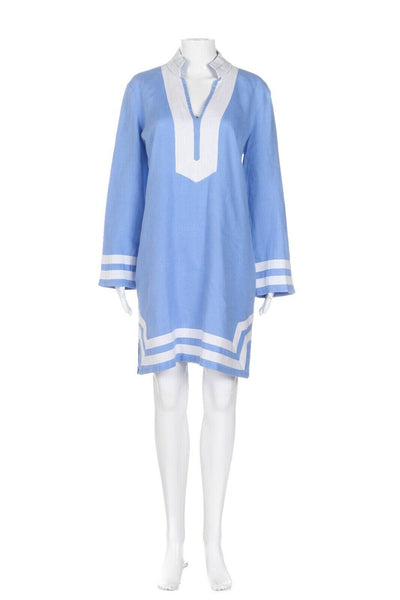 SAIL TO SABLE 100% Linen Tunic Dress Size L