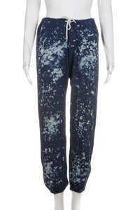 MONROW Paint Splatter Cropped Joggers Sweatpants Size M