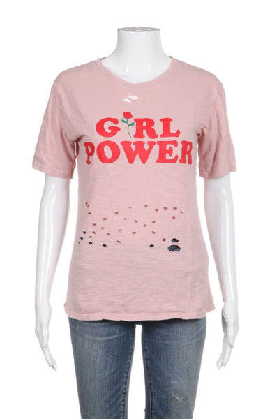 Unbranded Girlpower Tee Distressed Size S
